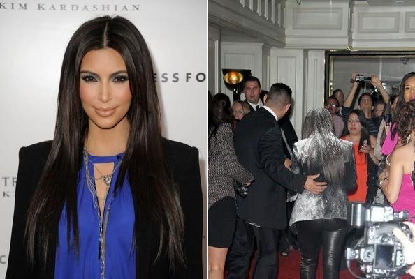 Kim Kardashian Gets Flour-Bombed